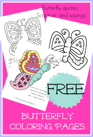 free butterfly coloring pages quotes free homeschool deals