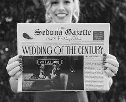 newspaper wedding programs heidi heth graphic designer