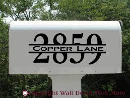 mailbox decal sticker house number and street name personalized loading zoom
