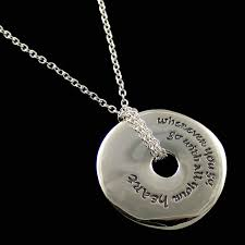 inspirational necklace go with all your heart confucius necklace quote jewelry dvb