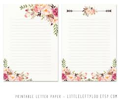 letter writing paper printable letter paper floral 2 stationery writing letter