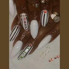 cocaine white pointy nail design youtube