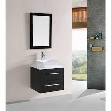 One Sink Bathroom Vanities by Belvedere 24 Inch Modern Espresso Floating Single Sink Bathroom