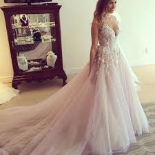 tulle wedding dress v neck lace wedding dresses a line tulle prom dress with