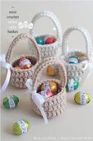 hello easter basket mini crochet easter eggs basket