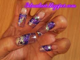 3d nail art fall acrylic design with skeleton leaves