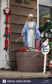 plastic jesus figure decorations outside
