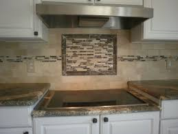 tiles backsplash travertine tile borders wood kitchen cabinet
