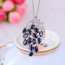 sapphire gem necklace images Natural blue sapphire gem pendant natural gemstone luxury fruit jpg