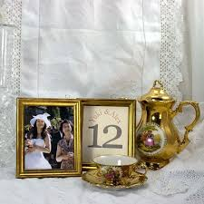 Gold Table Centerpieces by 12 Frames 4x5 Table Numbers Or Photos For Wedding And Banquet Gold