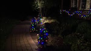 twinkle light christmas tree walmart bethlehem lights 40 stake tree w glistening lights page 1 qvc com