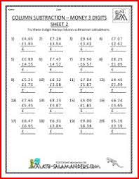 column addition money 4th grade money printable worksheet 3rd