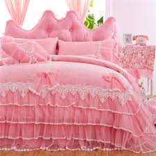 girls frilly bedding girls bedding sets white lace ruffle duvet cover set princess bed