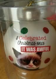 a grumpy grumpy cat ornament by ganz