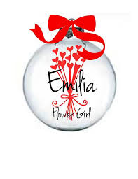 flower girl christmas ornament my wedding for christmas flower girl christmas ornament