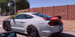 mustang shelby modified 2018 ford mustang shelby gt500 spied and filmed