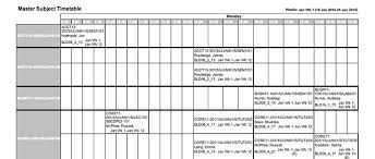 timetables bond university