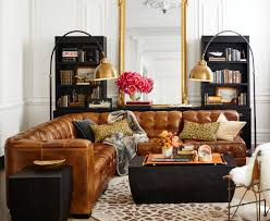 Pottery Barn Leather Sofa Fascinating Pottery Barn Tufted Leather Sofa Chesterfield