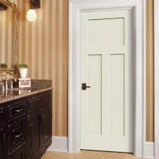 3 Panel Interior Doors Home Depot Jeld Wen 24 In X 80 In Craftsman Smooth 3 Panel Primed Molded