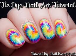 tie dye nail art tutorial step by step instructions