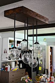 i made a wood box pendant lights fixture first time with