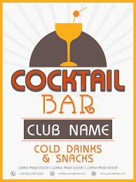 snack bar menu template menu card template or flyer design for cocktail stock