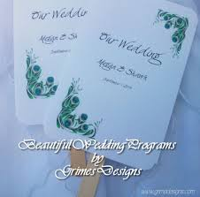 Peacock Wedding Programs Timika U0027s Blog Celebrity Wedding Dress 2011 Wedding Cards Beach