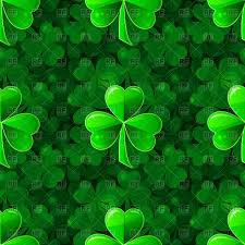 seamless green background of clovers st patrick u0027s day pattern