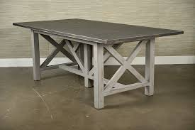 X Base Console Table Painted Rustic X Base Dining Table Mecox Gardens