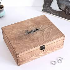 personalized wooden jewelry box personalised wooden carved name jewellery box by warner s end