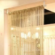silver silk string curtains for living room tassel window door