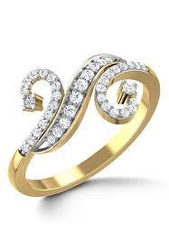 diamond studded american diamond studded ring jvr145
