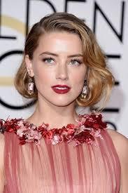 golden globes 2016 celebrity hairstyles makeup amber heard red carpet makeup looks