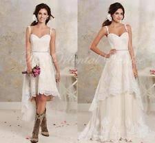 satin high low wedding dresses ebay