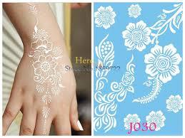 large henna tattoo stickers body art flash metallic henna tattoos