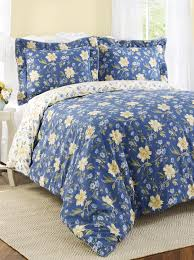 Blue And Yellow Duvet Cover Amazon Com Laura Ashley Emilie Blue And Yellow Floral Duvet Cover