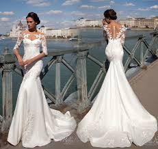 wedding dress 2017 robe de mariee mermaid wedding dresses 2017 illusion neck
