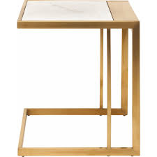 White Marble Desk by Nuevo Modern Furniture Hgtb261 Ethan Side Table W White Marble