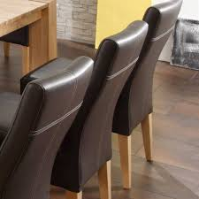 Esszimmerst Le Leder Grau Gepolsterte Stühle Salsass In Braun Für Ihr Esszimmer