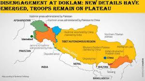 Tibetan Plateau Map Disengagement At Doklam New Details Have Emerged Troops Remain