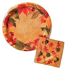 thanksgiving paper goods