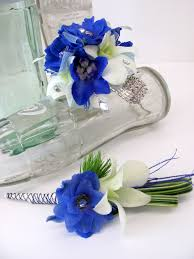 Royal Blue Boutonniere Worcester Florists Sprout Prom Flower Blues