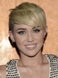 whats the name of the haircut miley cyrus usto have picture of miley cyrus blonde pixie hairstyle