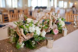 driftwood centerpieces surf wedding flowers table search wedding table