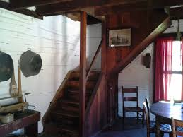 cabin interior stairs diana staresinic deane