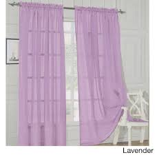 90 Inch Sheer Curtains Elegant Comfort 84 Inch Window Sheer Curtain Panel Pair Free