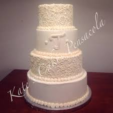 all buttercream wedding cake pensacola florida kates cakes