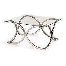 coaster company satin nickel coffee table coaster 701918 coffee table nickel finish with tempered glass top ebay