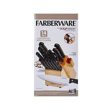 Farberware Kitchen Knives by Farberware 14 Piece Triple Rivet Knife Block Set With Built In