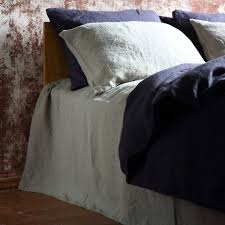 stone washed bed linen flat sheet by linenme notonthehighstreet com